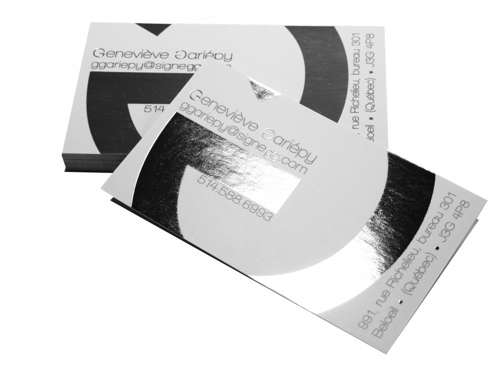 Cartes DAffaires Estampage Metallique